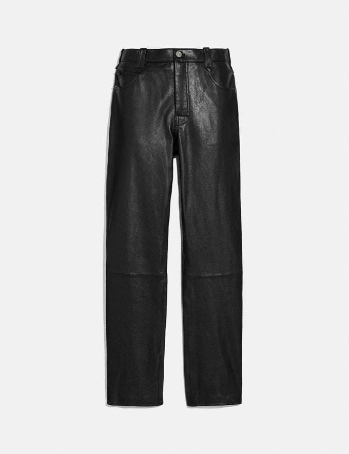 Coach Leather Pants Black Men Ready-to-Wear Tops & Bottoms