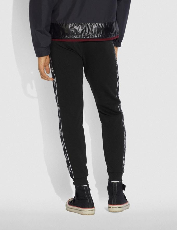 Coach Horse and Carriage Tape Sweatpants Black Men Ready-to-Wear Tops & Bottoms Alternate View 2