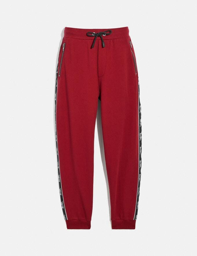 Coach Horse and Carriage Tape Sweatpants Black