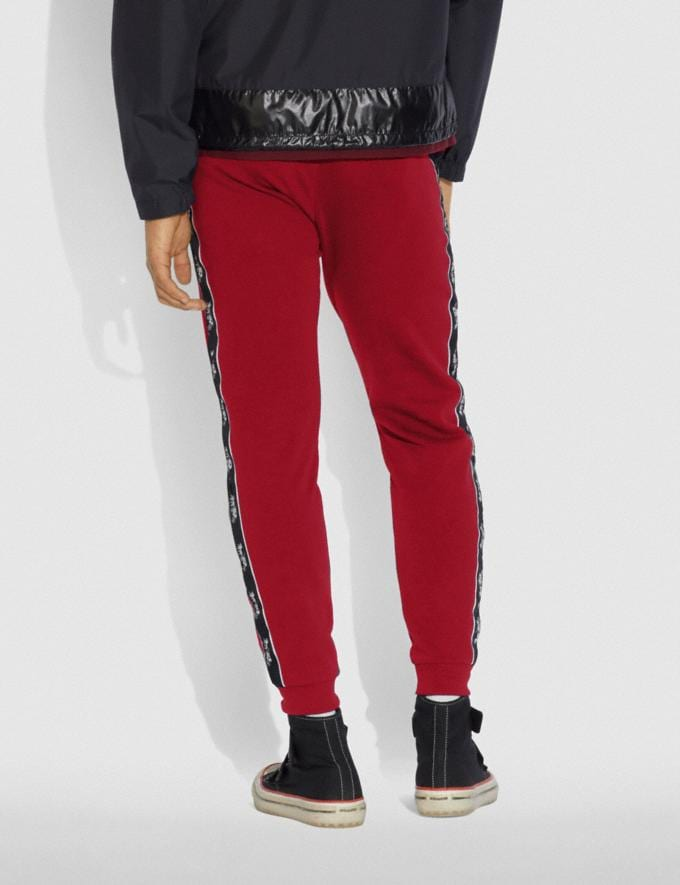 Coach Horse and Carriage Tape Sweatpants Black  Alternate View 2