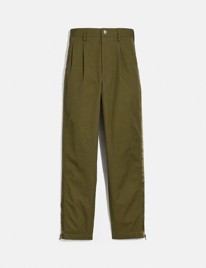 Coach Pleated Pants Tamarind Men Ready-to-Wear Clothing