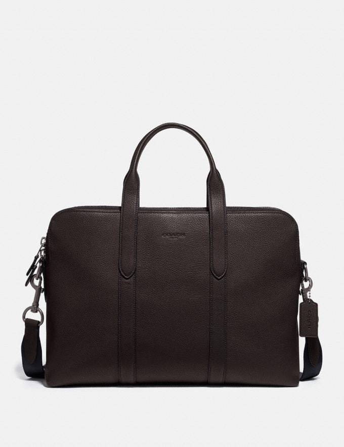Coach Metropolitan Soft Brief Ji/Oak Men Bags Briefcases