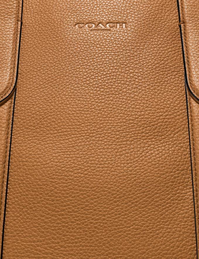 Coach Metropolitan Soft Brief Black Antique Nickel/Light Saddle Men Bags Briefcases Alternate View 4