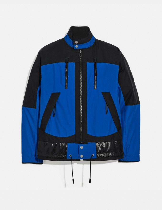 Coach Reversible Harrington Jacket Black/Blue SALEDDD Men's Sale