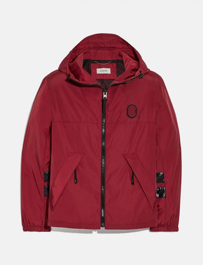 Coach Windbreaker Dark Cardinal Men Ready-to-Wear Coats & Jackets