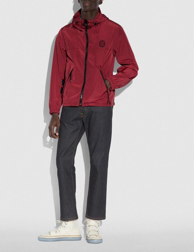 Coach Windbreaker Dark Cardinal Men Ready-to-Wear Coats & Jackets Alternate View 1