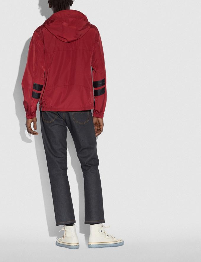 Coach Windbreaker Dark Cardinal Men Ready-to-Wear Coats & Jackets Alternate View 2