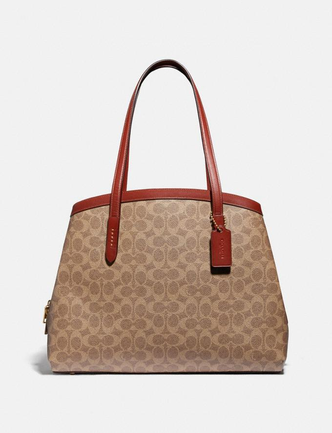 Coach Charlie Carryall 40 in Signature Canvas Brass/Tan Rust New Featured 30% off (and more)