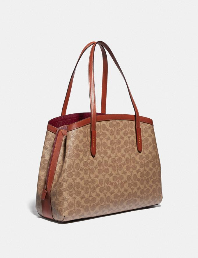 Coach Charlie Carryall 40 in Signature Canvas Brass/Tan Rust New Featured 30% off (and more) Alternate View 1