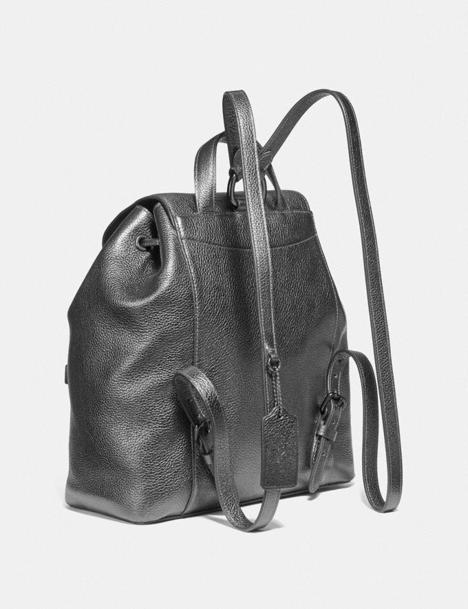 Coach Evie Backpack Pewter/Metallic Graphite Women Handbags Backpacks Alternate View 1