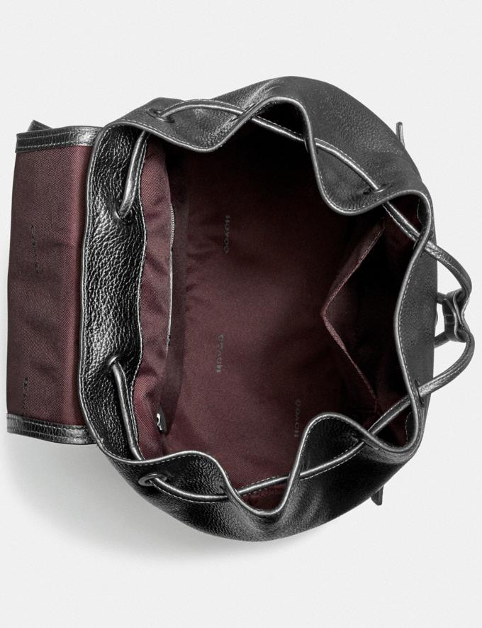 Coach Evie Backpack Pewter/Metallic Graphite Women Handbags Backpacks Alternate View 2