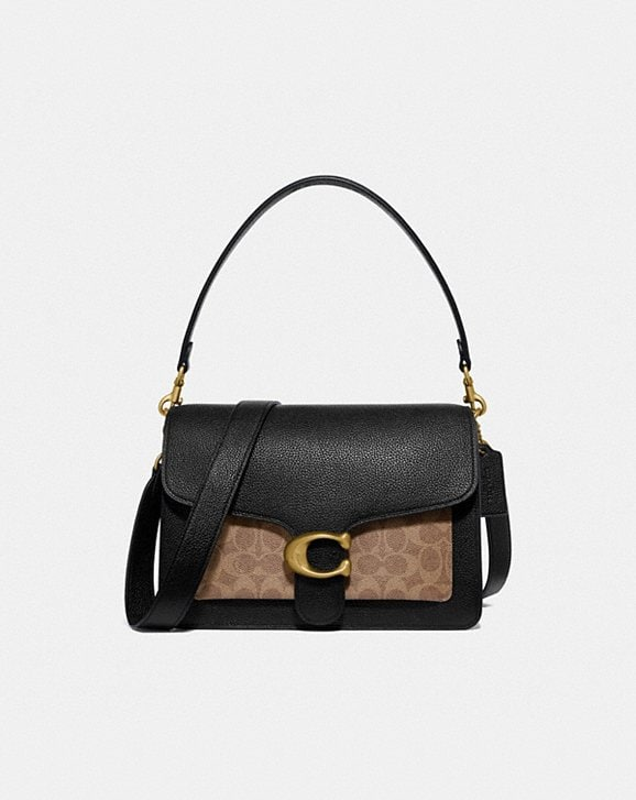 Coach TABBY SHOULDER BAG WITH SIGNATURE CANVAS