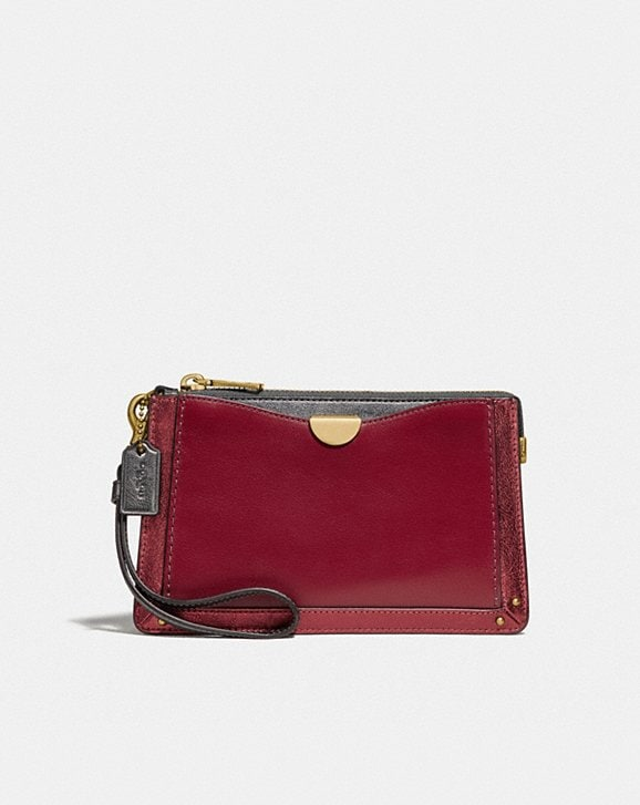 Coach DREAMER WRISTLET IN COLORBLOCK WITH SIGNATURE CANVAS