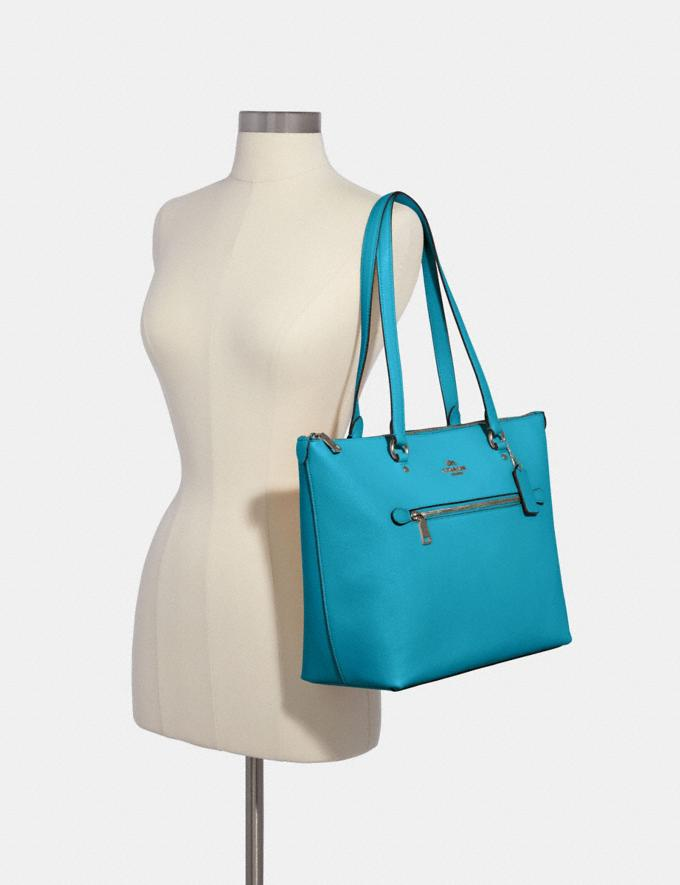 Coach Gallery Tote Sv/Aqua  Alternate View 2
