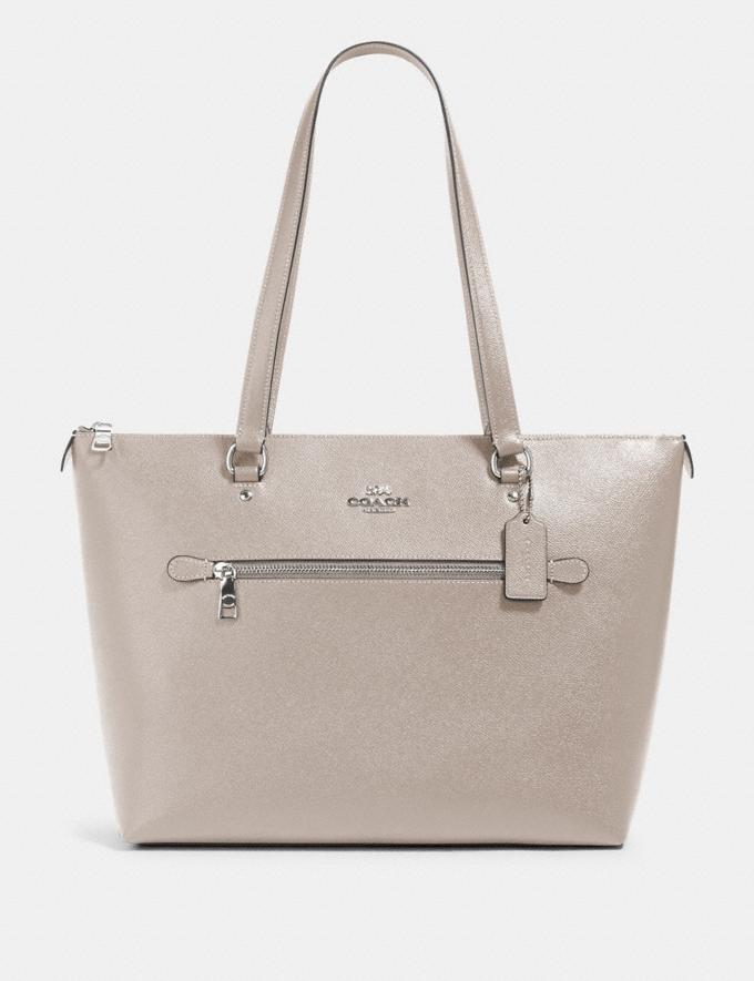 Coach Gallery Tote Sv/Grey Birch
