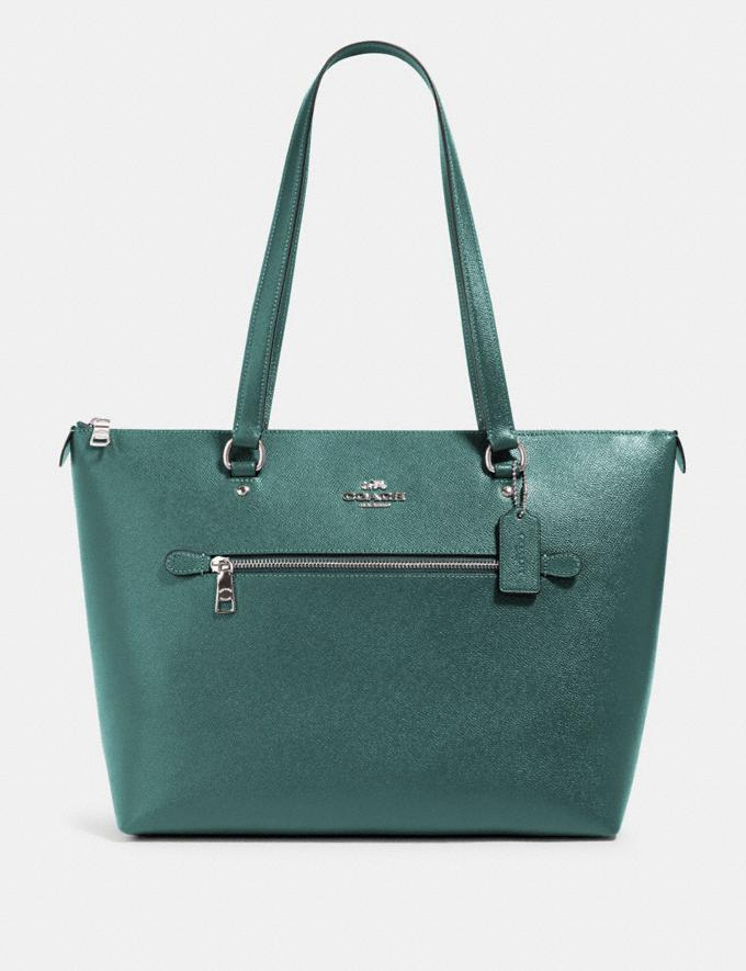 Coach Gallery Tote Sv/Dark Turquoise Clearance