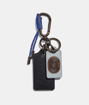 KEY FOB WITH COACH PATCH