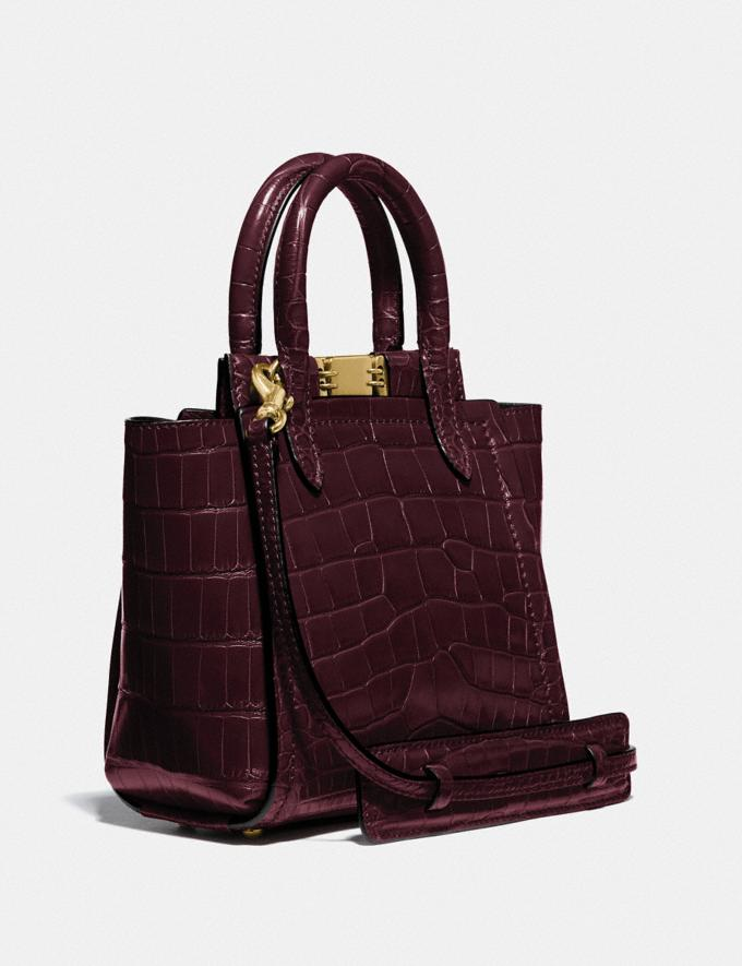 Coach Troupe Tote 16 in Alligator Brass/Bordeaux Women Collection Troupe Alternate View 1