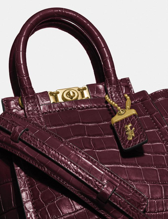 Coach Troupe Tote 16 in Alligator Brass/Bordeaux Women Collection Troupe Alternate View 4