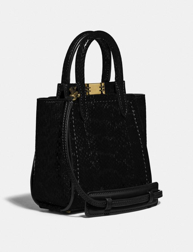 Coach Troupe Tote 16 in Snakeskin Brass/Black Women Collection Troupe Alternate View 1