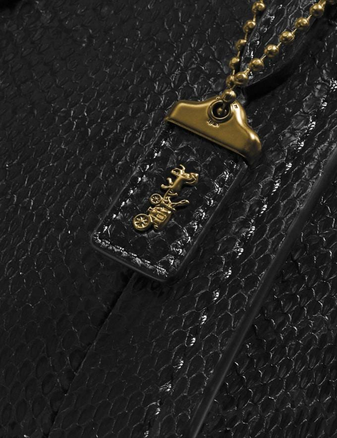 Coach Troupe Tote 16 in Snakeskin Brass/Black Women Collection Troupe Alternate View 4
