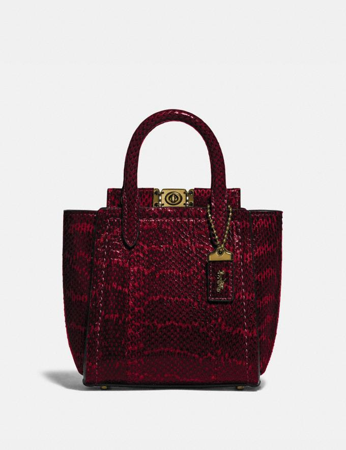Coach Troupe Tote 16 in Snakeskin Brass/Deep Red DEFAULT_CATEGORY