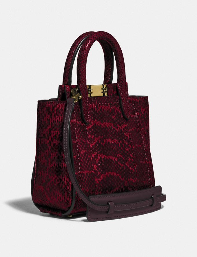 Coach Troupe Tote 16 in Snakeskin Brass/Deep Red DEFAULT_CATEGORY Alternate View 1