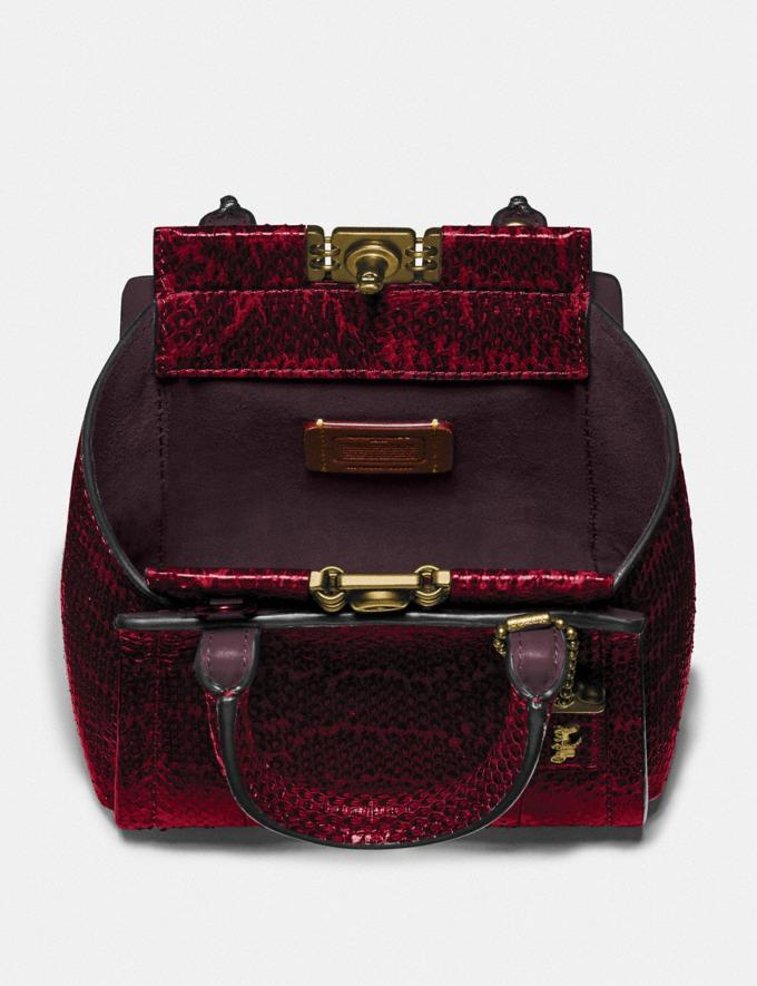 Coach Troupe Tote 16 in Snakeskin Brass/Deep Red DEFAULT_CATEGORY Alternate View 2