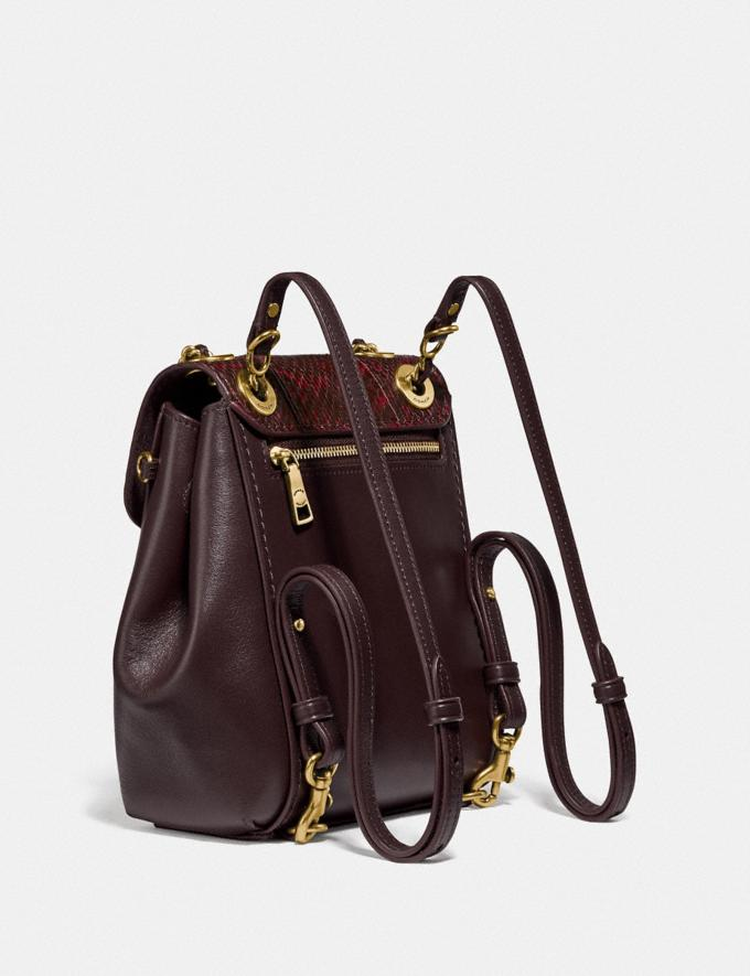 Coach Parker Convertible Backpack 16 With Snakeskin Detail Brass/Deep Red Cyber Monday Alternate View 1