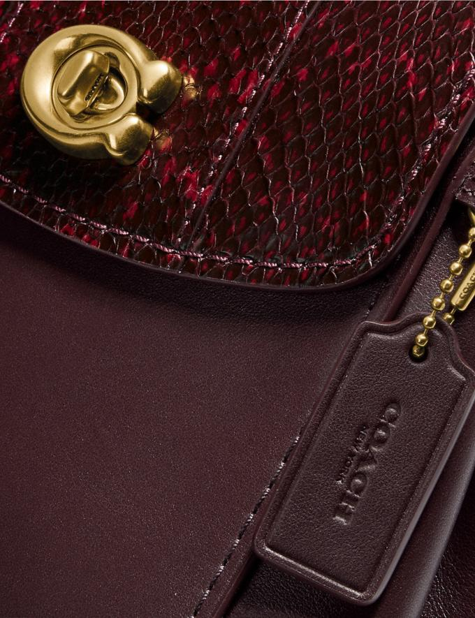 Coach Parker Convertible Backpack 16 With Snakeskin Detail Brass/Deep Red Cyber Monday Alternate View 6