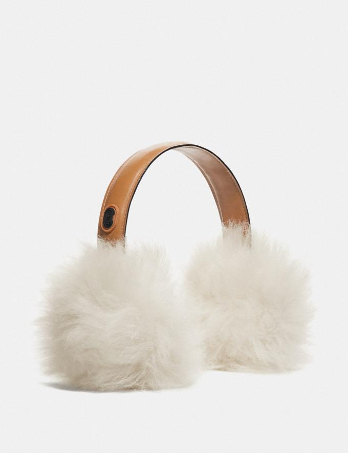 Coach Shearling Earmuffs Black Women Accessories Scarves & Gloves