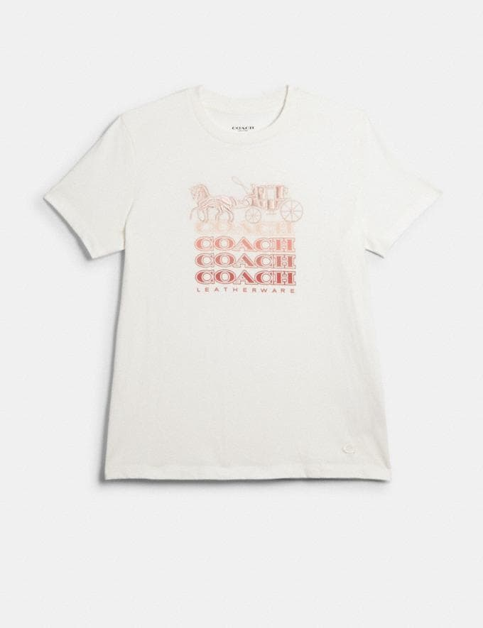Coach Coach T-Shirt White/Pink