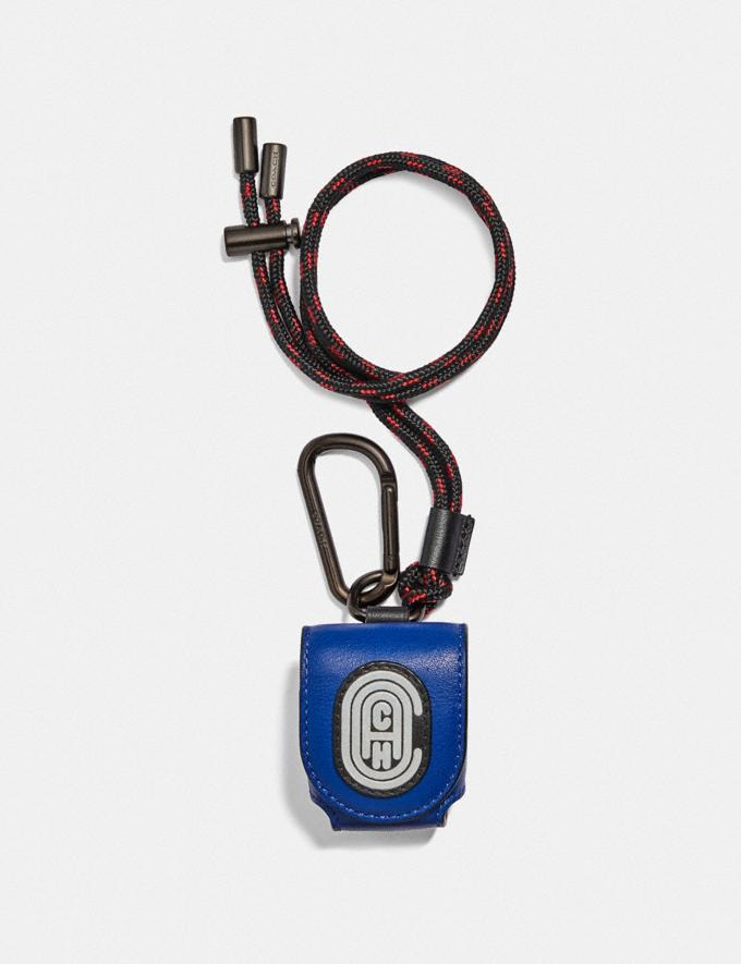 Coach Wireless Earbud Case With Reflective Coach Patch Sport Blue/Silver Gifts For Him Under $100