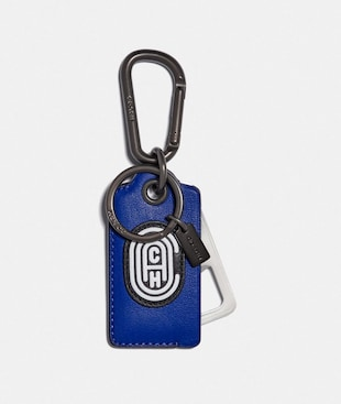 BOTTLE OPENER KEY FOB WITH REFLECTIVE COACH PATCH