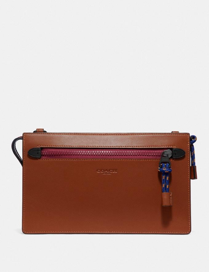 Coach Rivington Convertible Pouch in Colorblock Saddle/Sport Blue New Men's New Arrivals Accessories