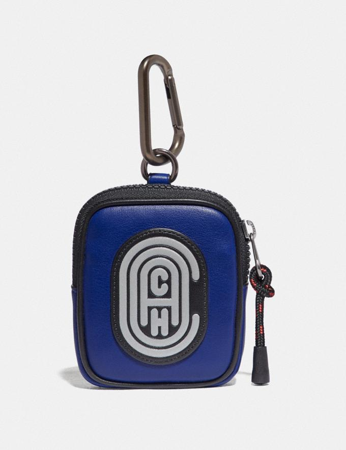 Coach Hybrid Pouch 8 in Colorblock With Coach Patch Sport Blue/Silver Men Edits Travel