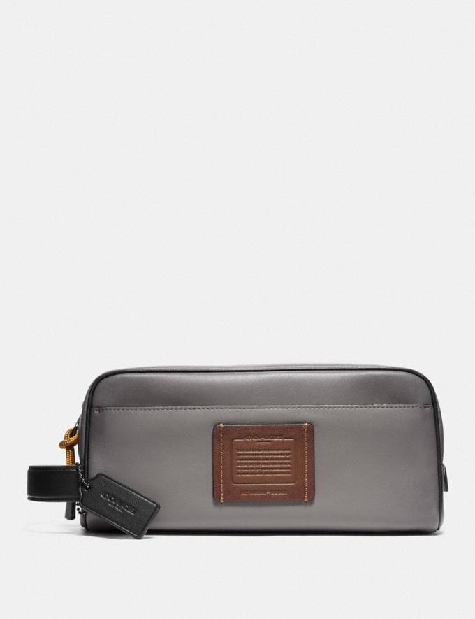 Coach Travel Kit Grey/Silver Men Edits Travel
