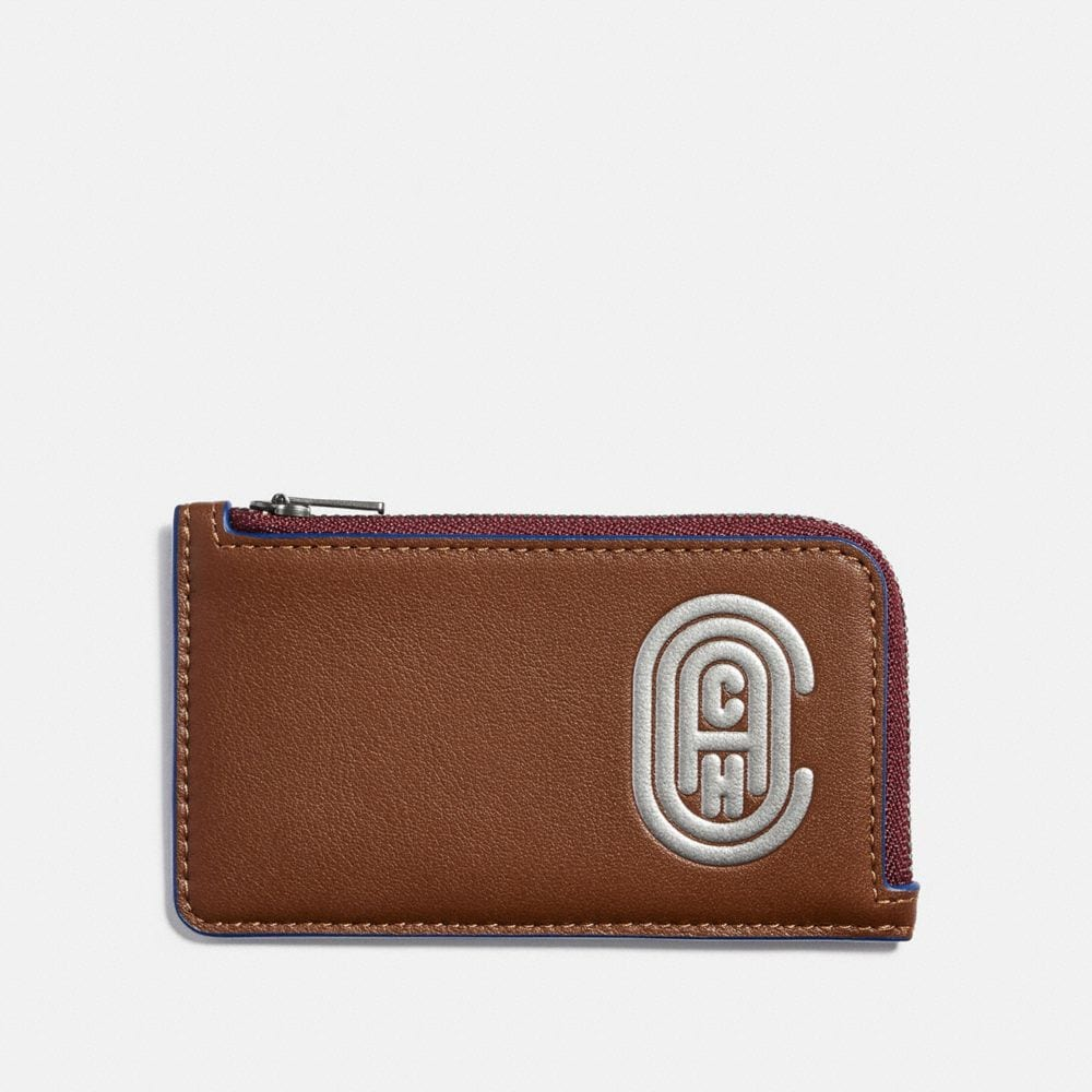 Coach Cases L-Zip Card Case With Reflective Coach Patch