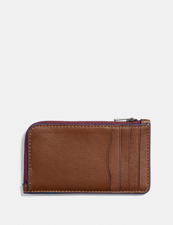 Coach L-Zip Card Case With Reflective Coach Patch Saddle/Sport Blue New Men's New Arrivals Wallets Alternate View 1