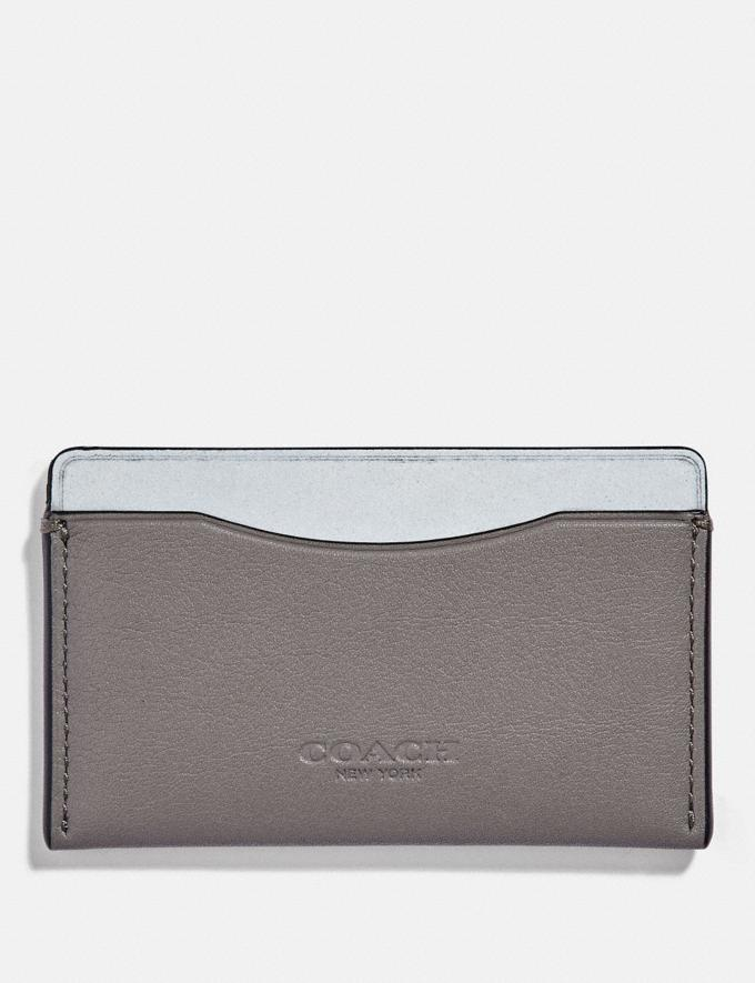 Coach Small Card Case Grey/Silver Men Wallets Card Cases