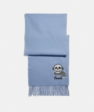 BONESY EMBROIDERED MUFFLER