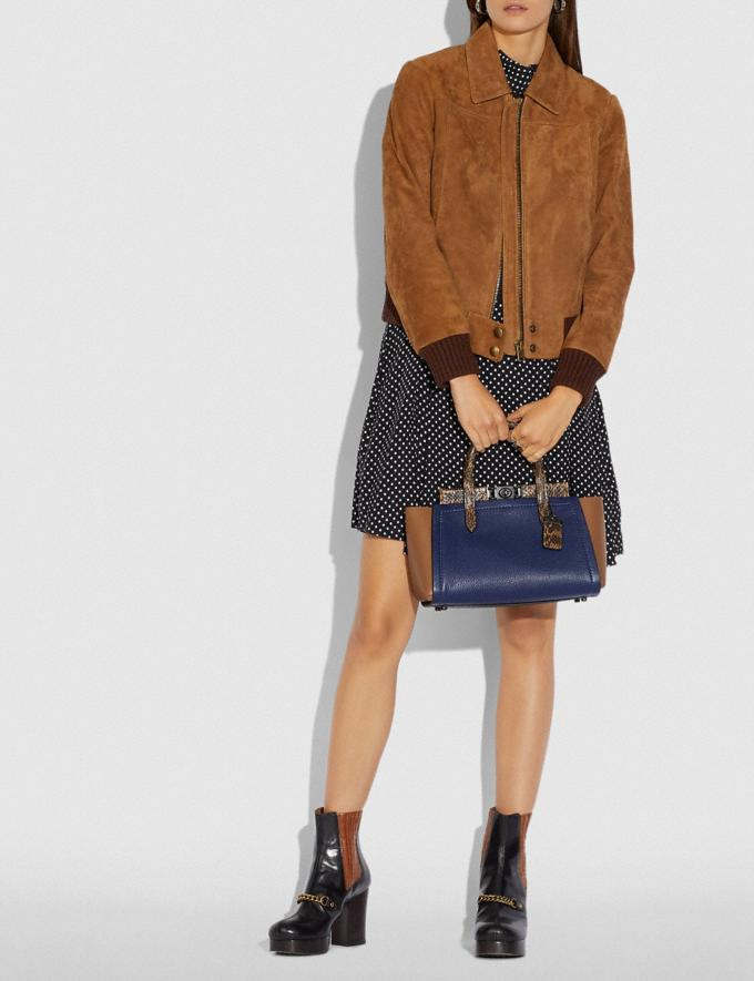 Coach Troupe Carryall in Colorblock With Snakeskin Detail V5/Cadet Multi New Women's New Arrivals Alternate View 3