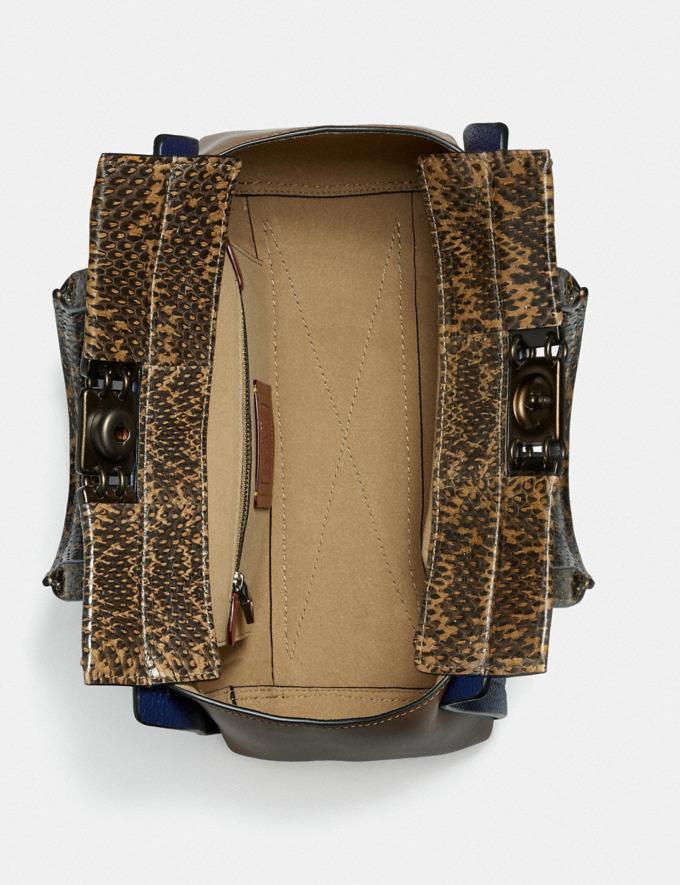 Coach Troupe Weekender in Blockfarben Mit Schlangenleder V5/Cadet Multi Damen Taschen Satchels Alternative Ansicht 2