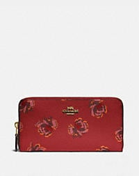 gold/red apple floral print