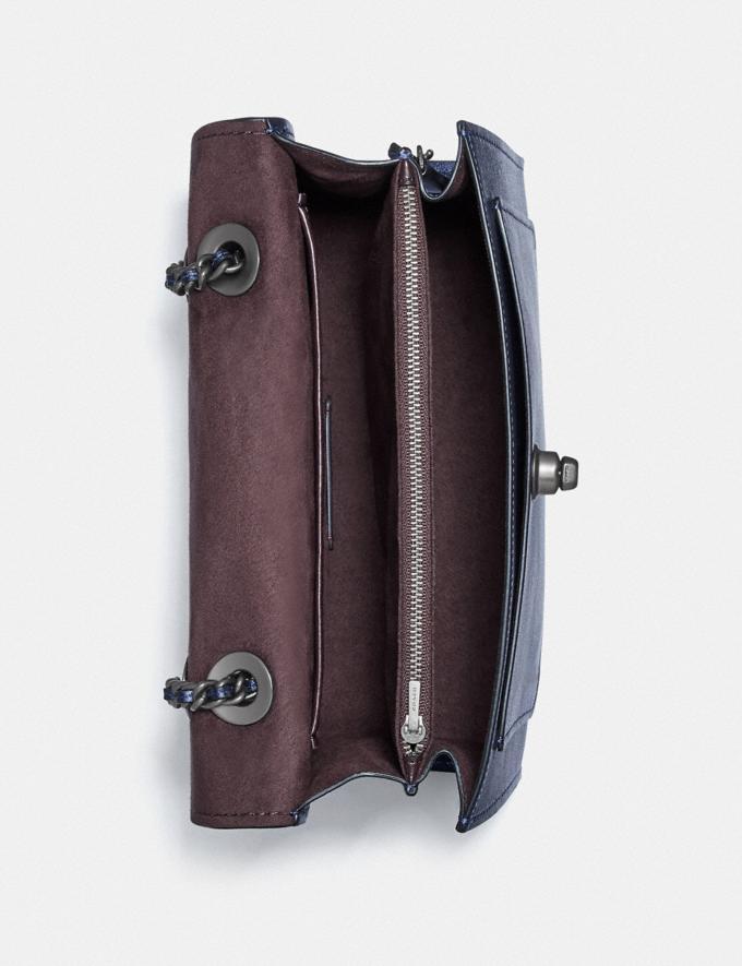 Coach Parker Shoulder Bag V5/Metallic Midnight Blue  Alternate View 1