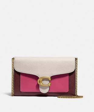 TABBY CLUTCH MIT KETTENRIEMEN IN COLORBLOCK-OPTIK