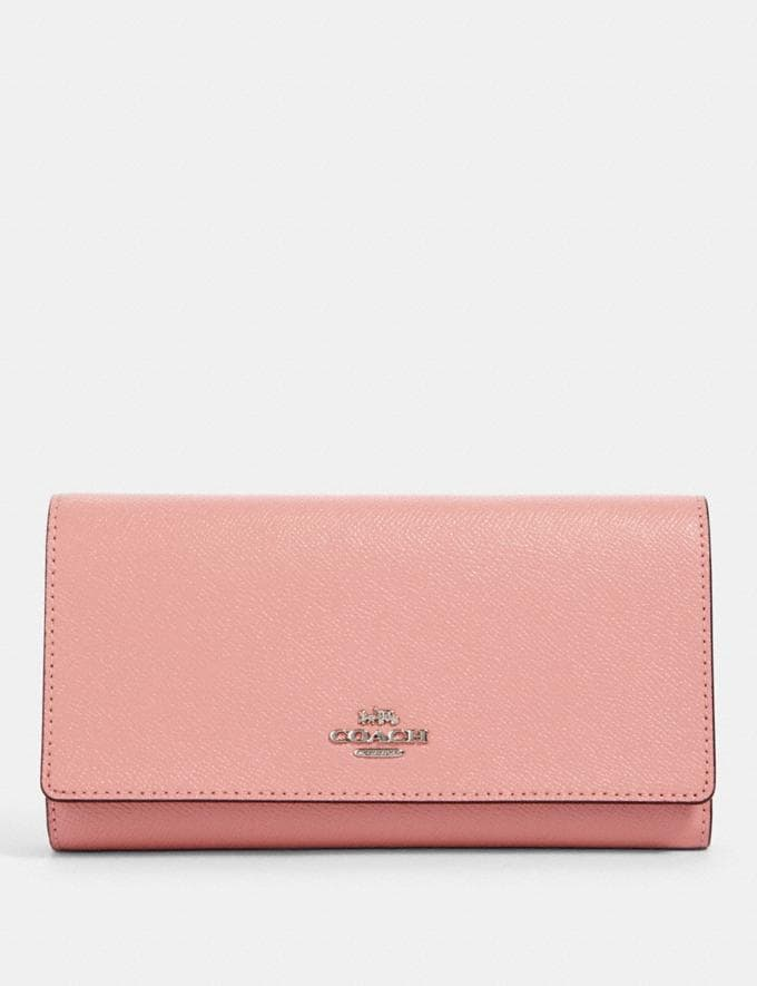 Coach Trifold Wallet Sv/Light Blush Accessories