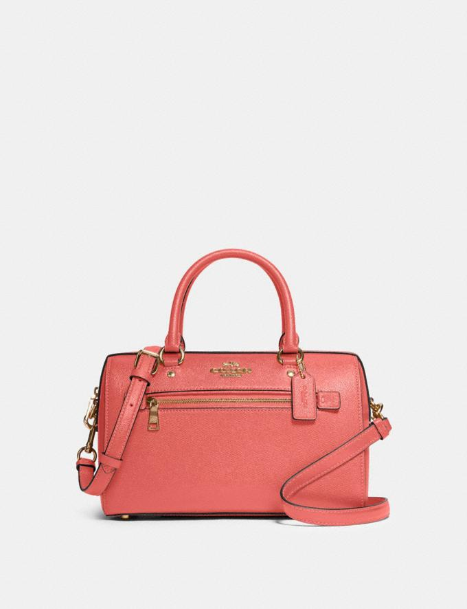 Coach Rowan Satchel Im/Bright Coral