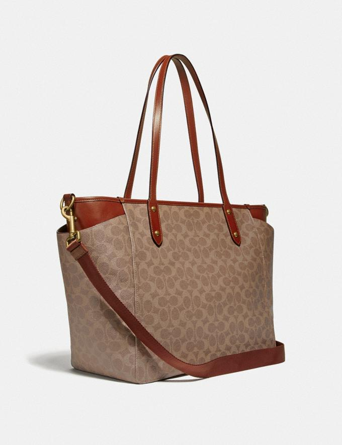 Coach Baby Bag in Signature Canvas Brass/Tan Rust Women Handbags Diaper Bags Alternate View 1