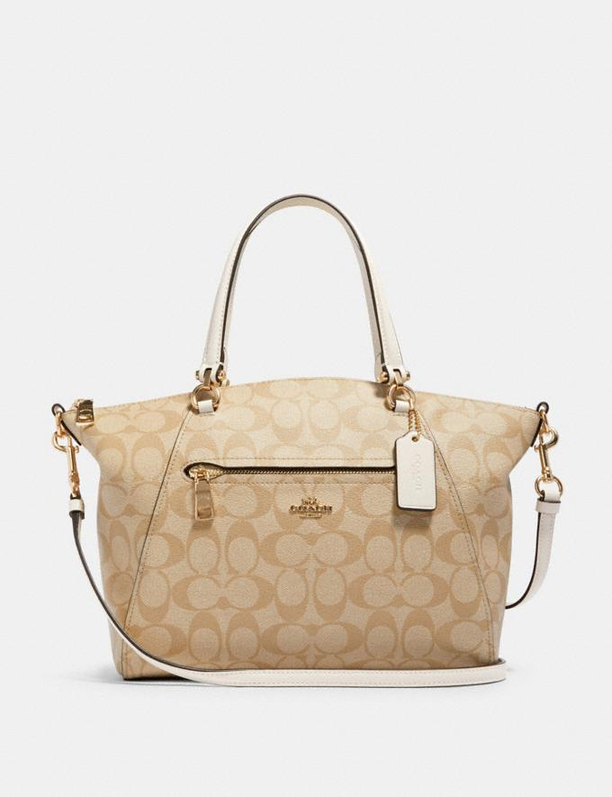 Coach Prairie Satchel in Signature Canvas Im/Light Khaki Chalk Outlet Women's Bags